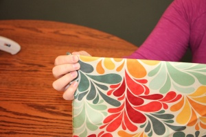 DIY Fabric Picture Frame Mat Tutorial - Step #6. The Life of B