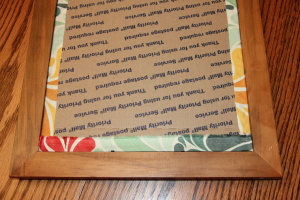 DIY Fabric Picture Frame Mat Tutorial - Step #12. The Life of B