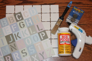DIY ABC Magnets Tutorial - Supplies
