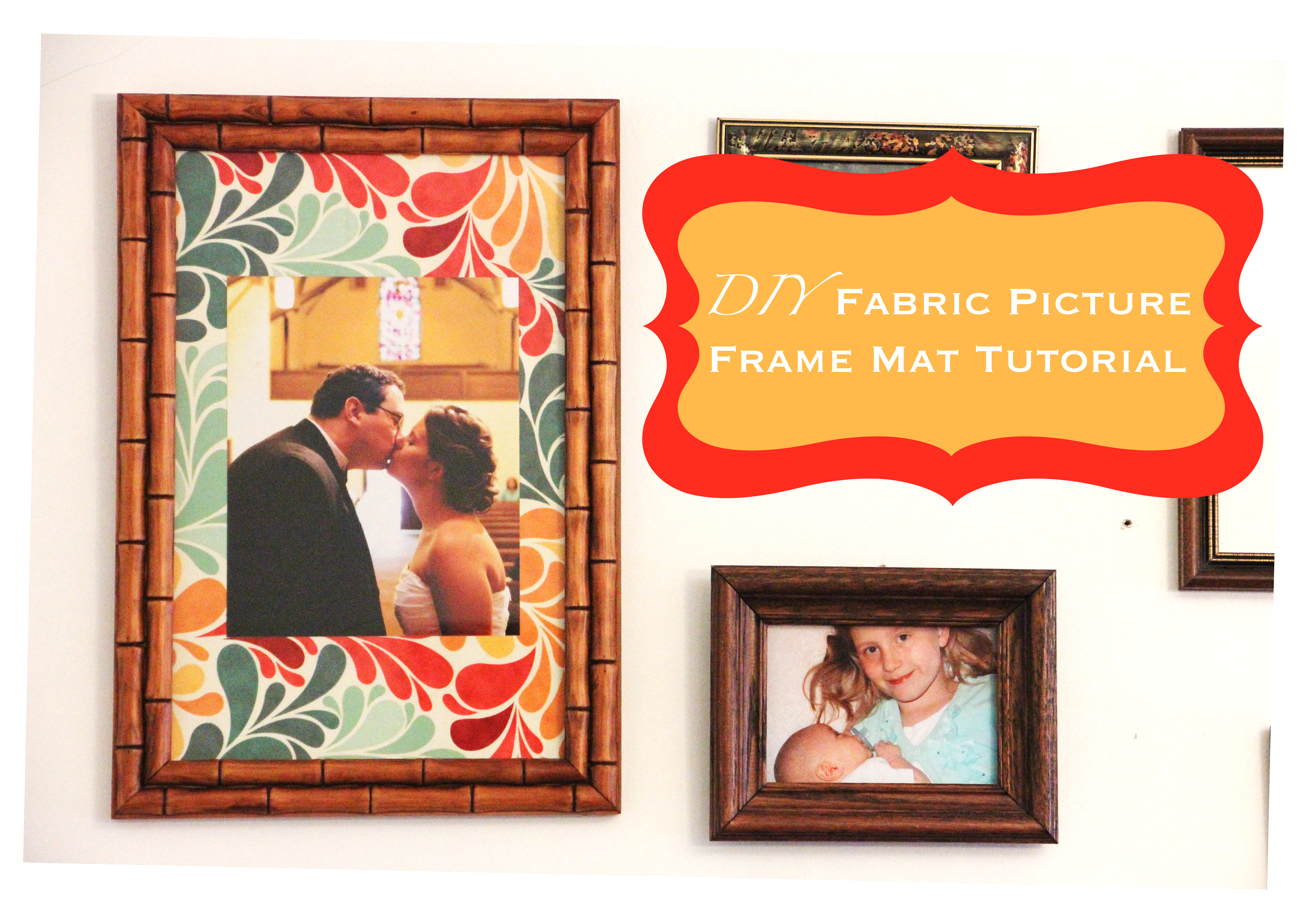 diy fabric picture frame mats