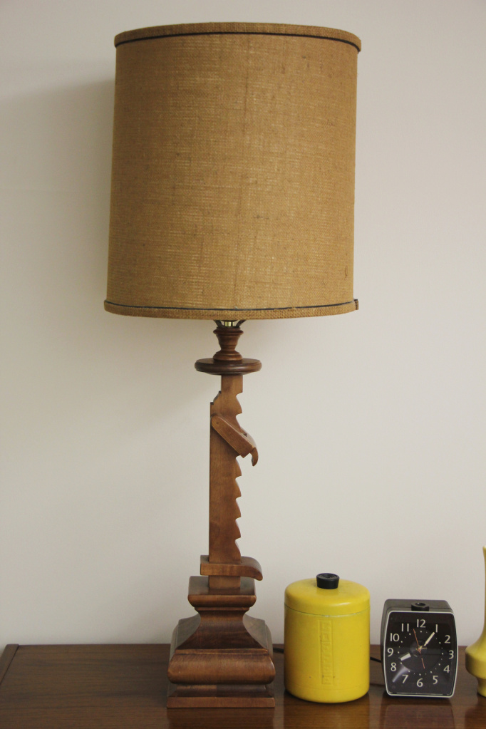 Tell City Chair Company Ratchet Table Lamp in #48 Andover Maple Finish