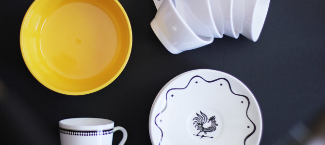 Dinnerware For Pennies + Vintage Art Finds