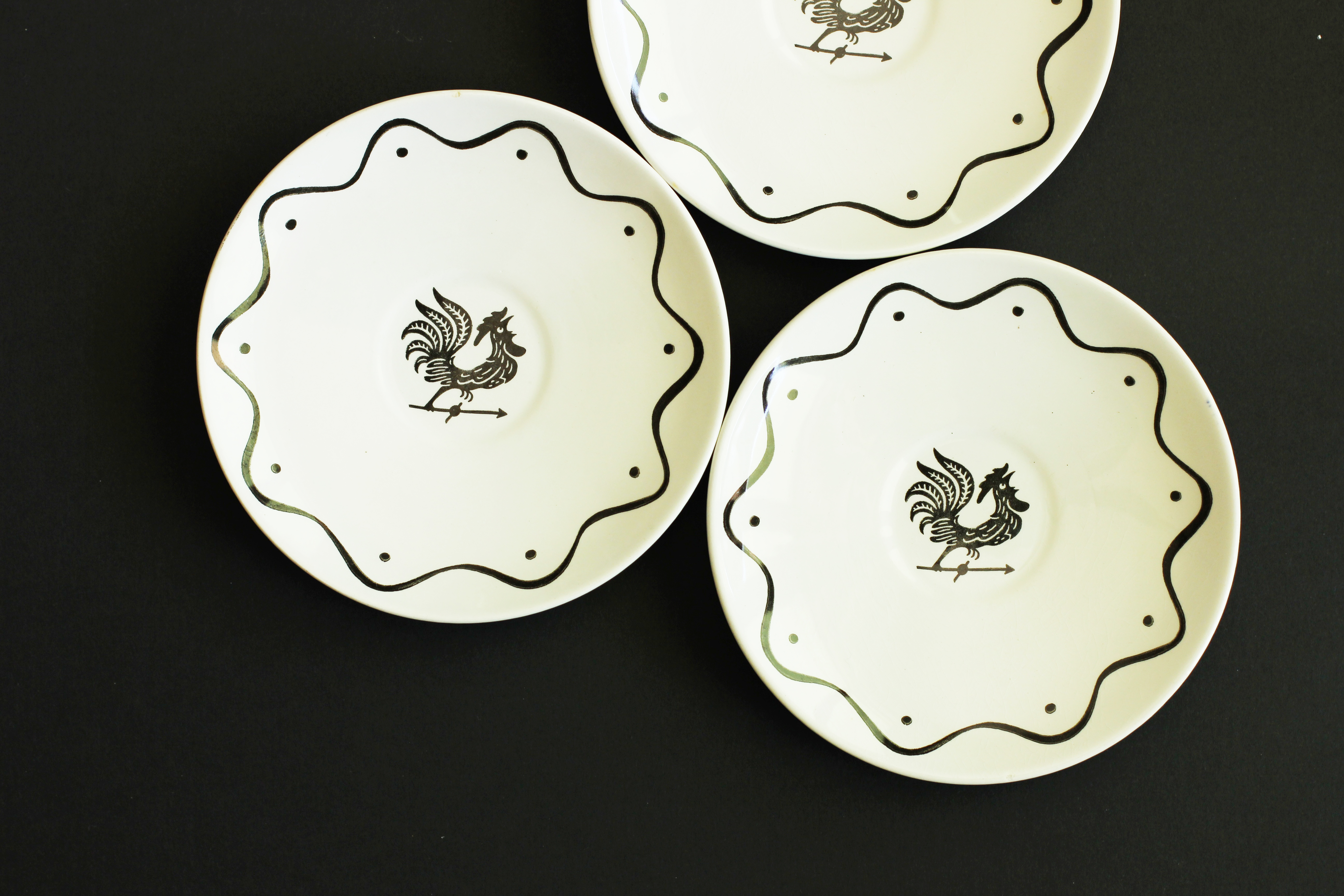 The Life of B - Mid Century Tableware Vintage Royal China Funky Rooster Plates & Dinnerware For Pennies + Vintage Art Finds