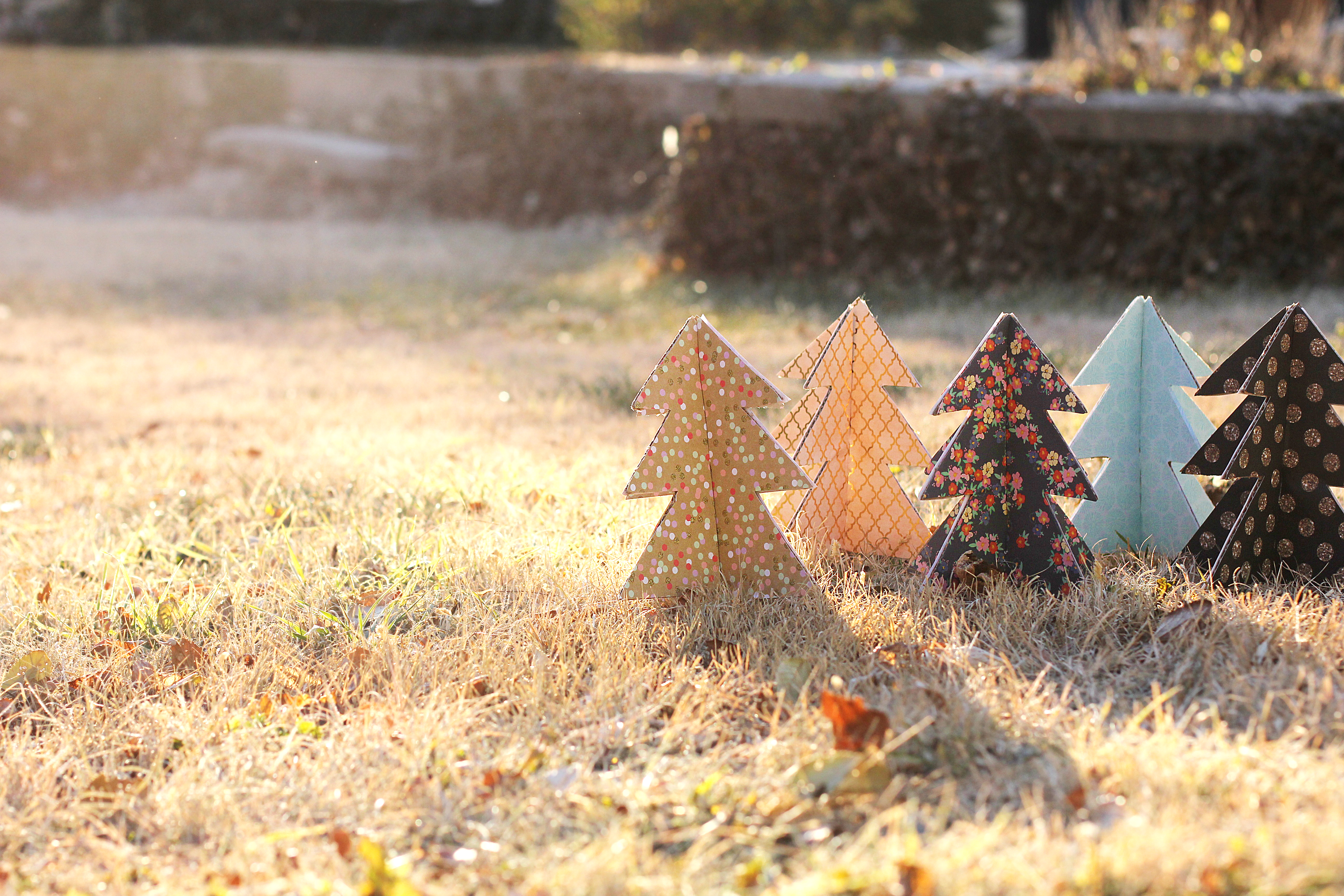 DIY Festive Cardboard Christmas Trees | Life of B Blog